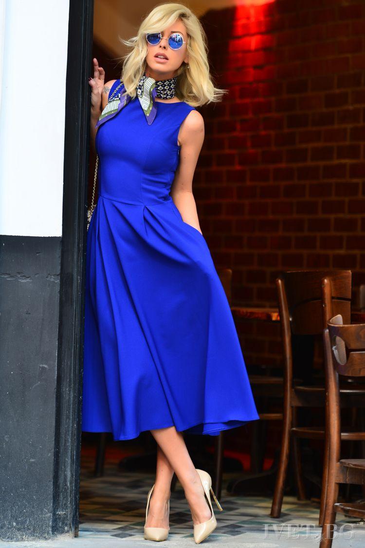φόρεμα MONICA BLUE - 1