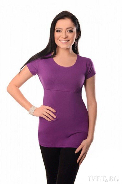 μπλούζα εγκυμοσύνης SREBRINA PURPLE - 1