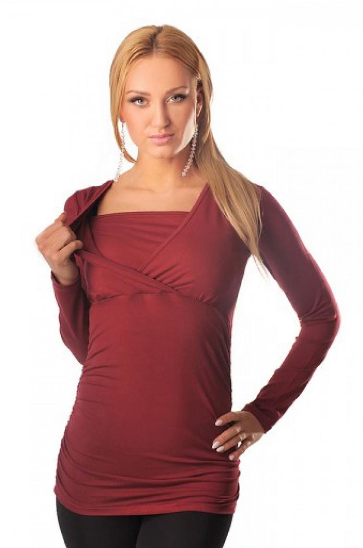 Μπλουζοφόρεμα εγκυμοσύνης KRAYA BORDO - 1