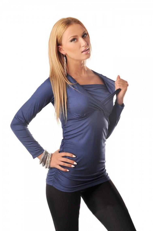 Μπλουζοφόρεμα εγκυμοσύνης KRAYA NAVY - 1