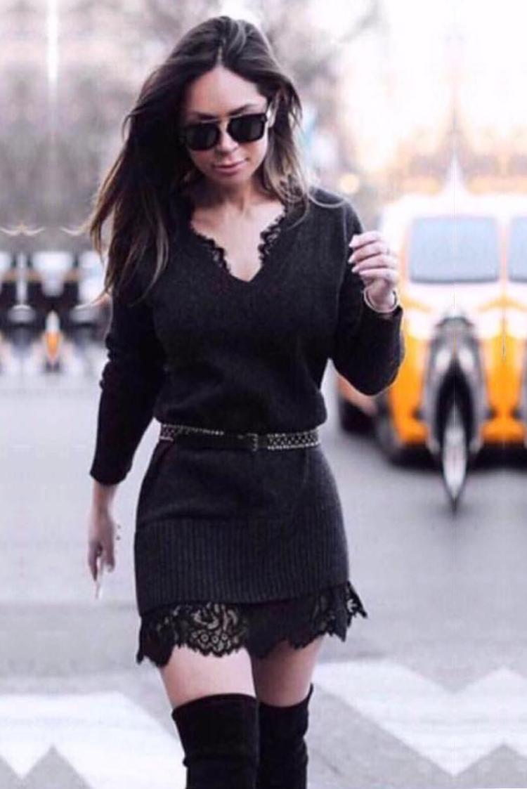 μπλουζοφόρεμα ARYA BLACK - 1