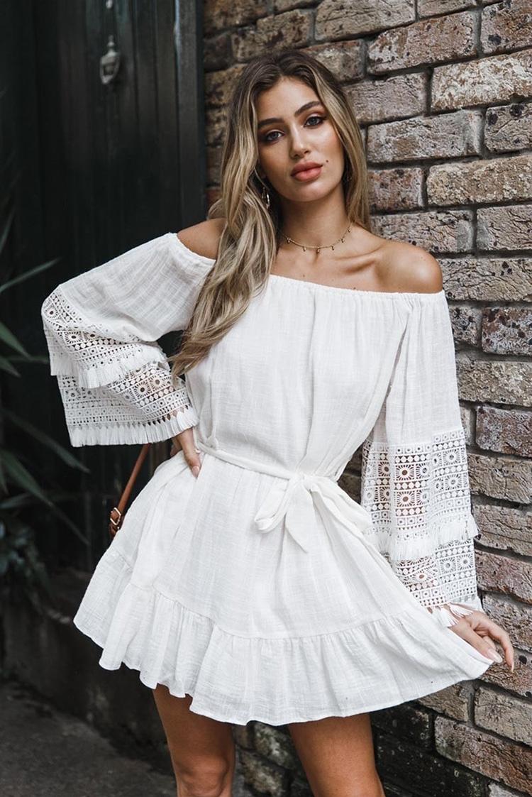 φόρεμα DARMENA WHITE - 1