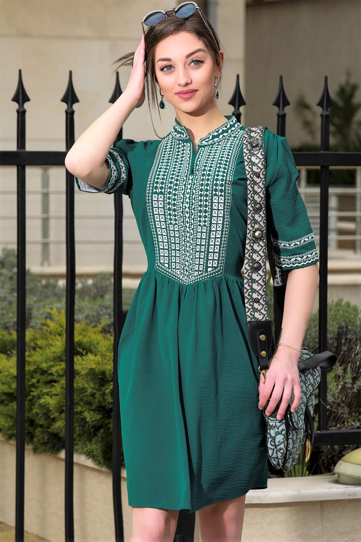 φόρεμα MERONA GREEN - 1