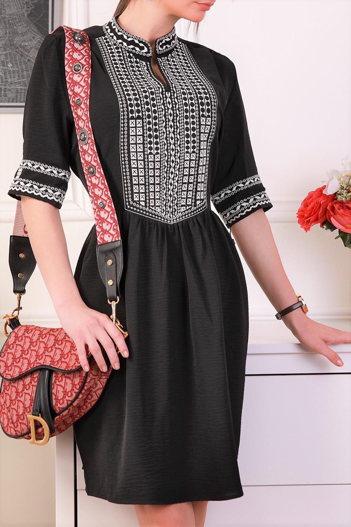 φόρεμα MERONA BLACK - 1
