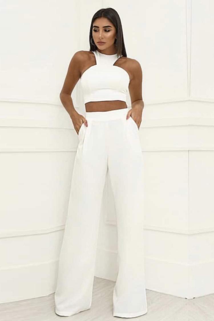 ολόσωμη φόρμα DENIKA WHITE - 1