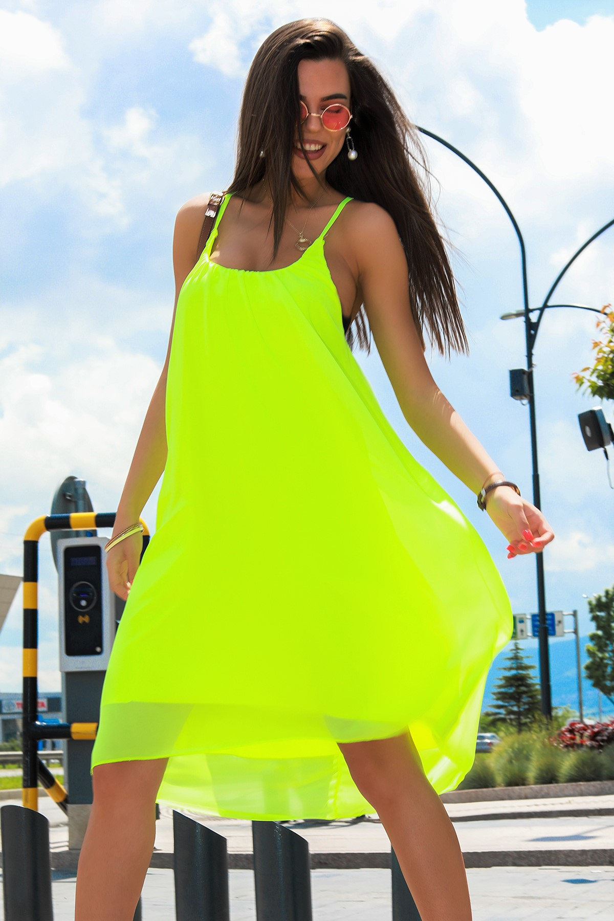 φόρεμα DALANA LIME - 1