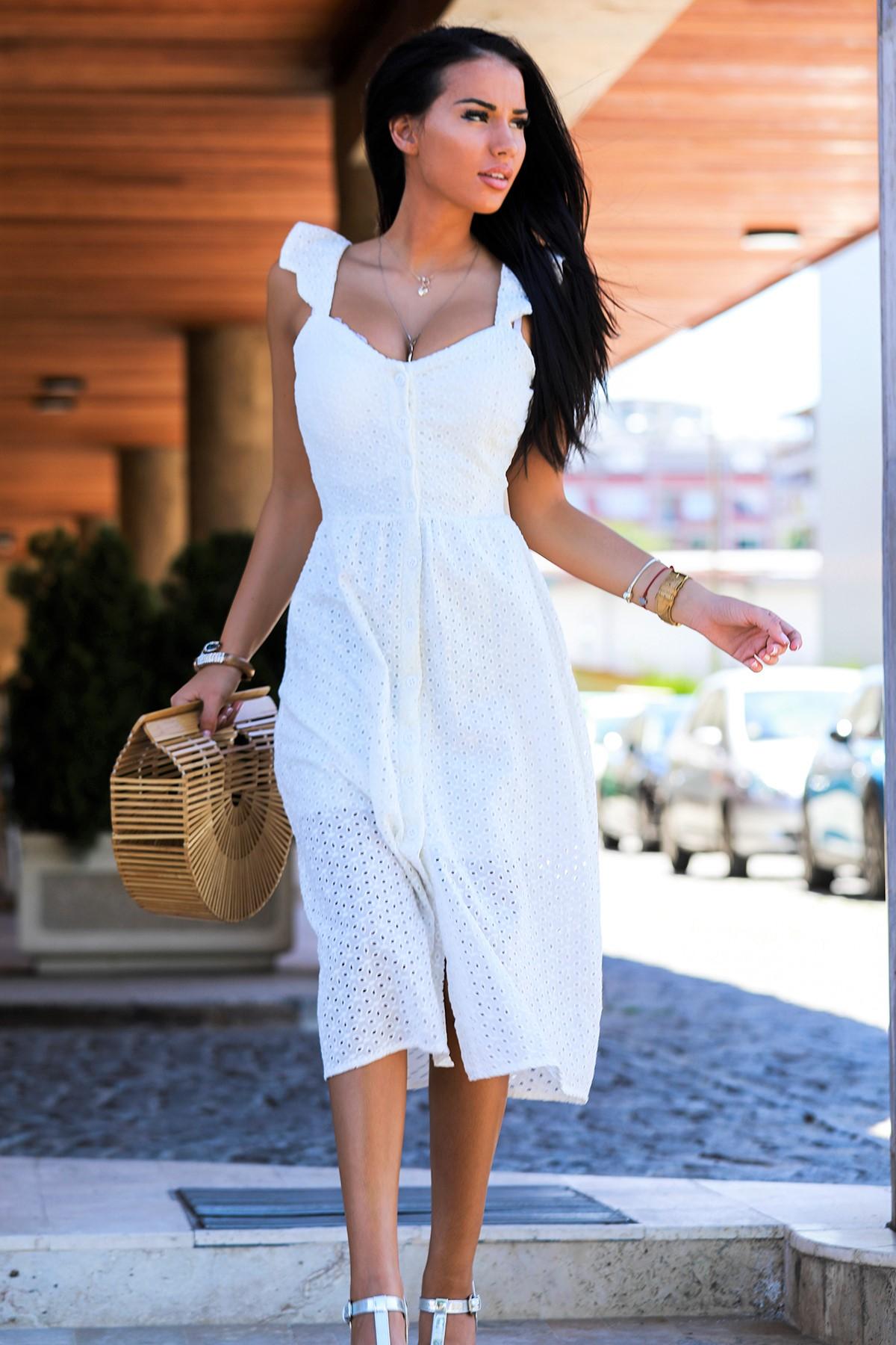 φόρεμα RAVADINA WHITE - 1