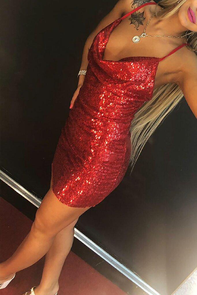 φόρεμα CONTESA RED - 1
