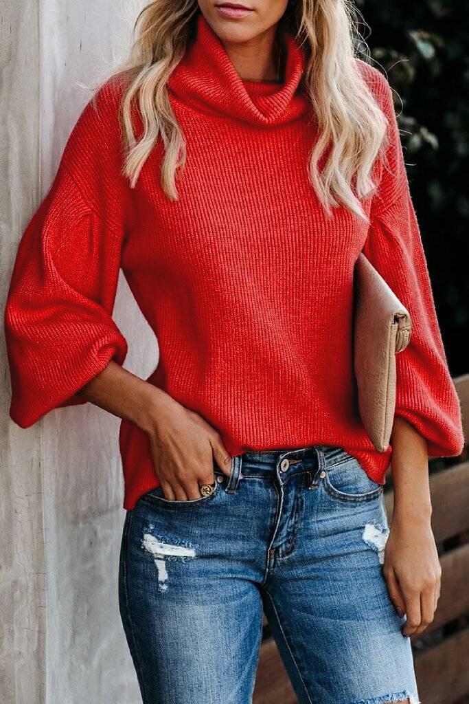πουλόβερ TILOMA RED - 1