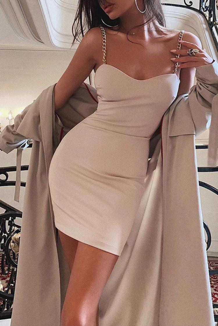 φορεμα MORGANA BEIGE - 1
