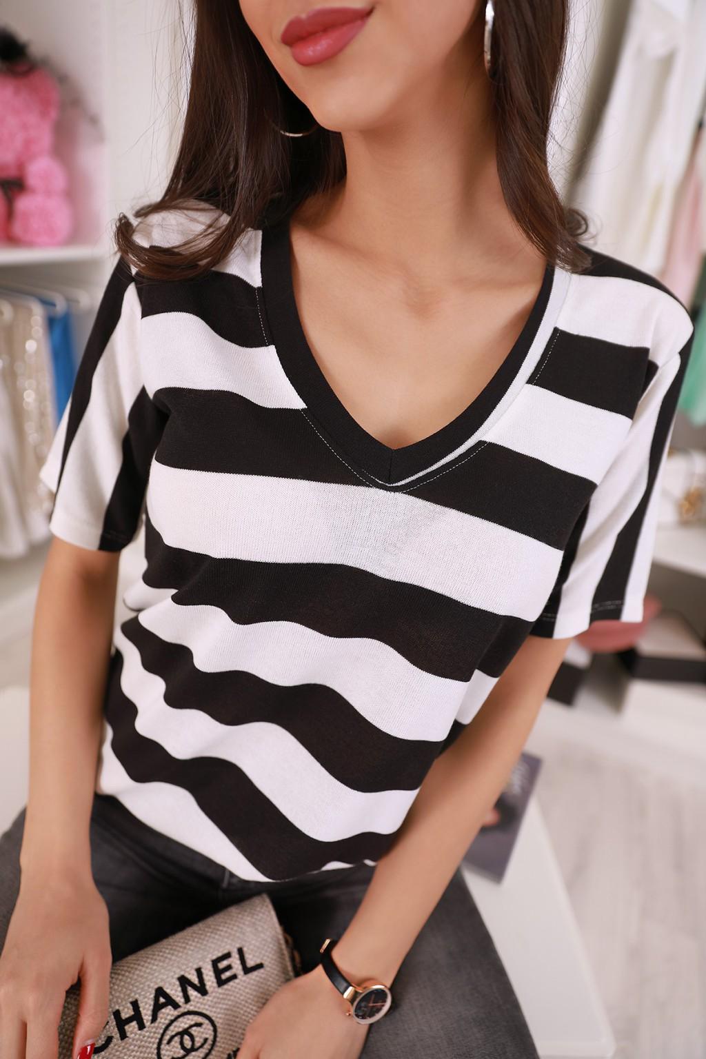 κοντομάνικο μπλουζάκι MOLVY BLACK - 1