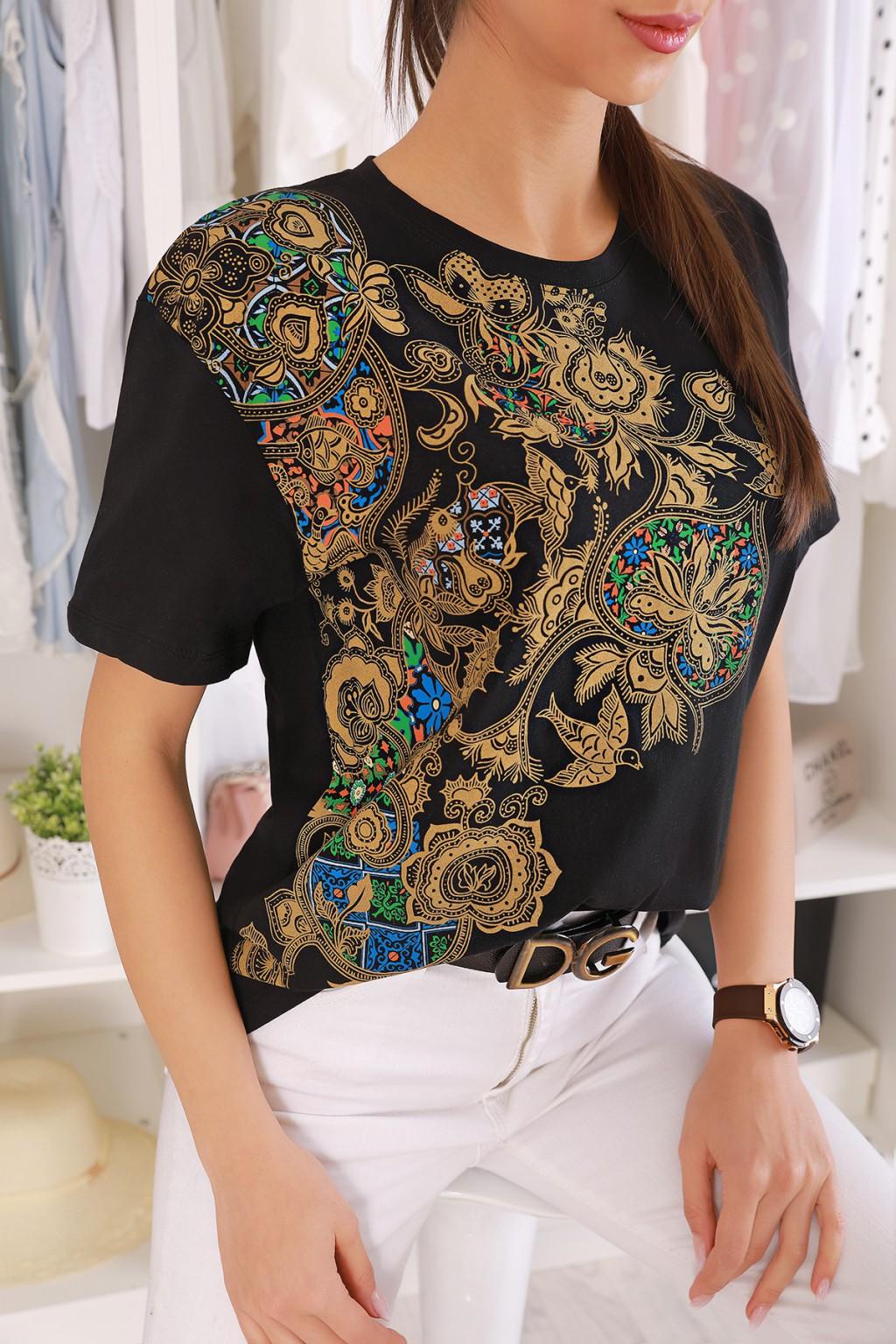 κοντομάνικο μπλουζάκι MERTINDA BLACK - 1