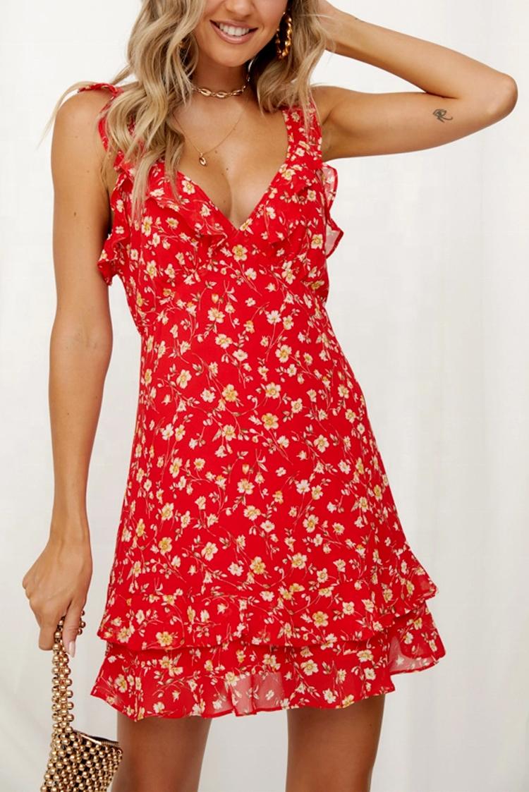 φόρεμα MARINA RED - 1