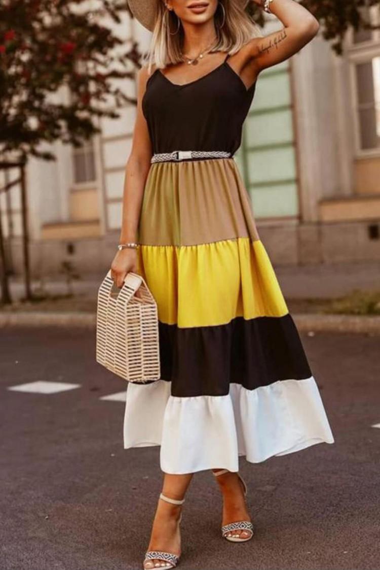 φόρεμα FILIZIA YELLOW - 1