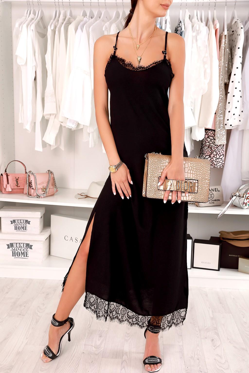 φόρεμα SEMILDA BLACK - 1