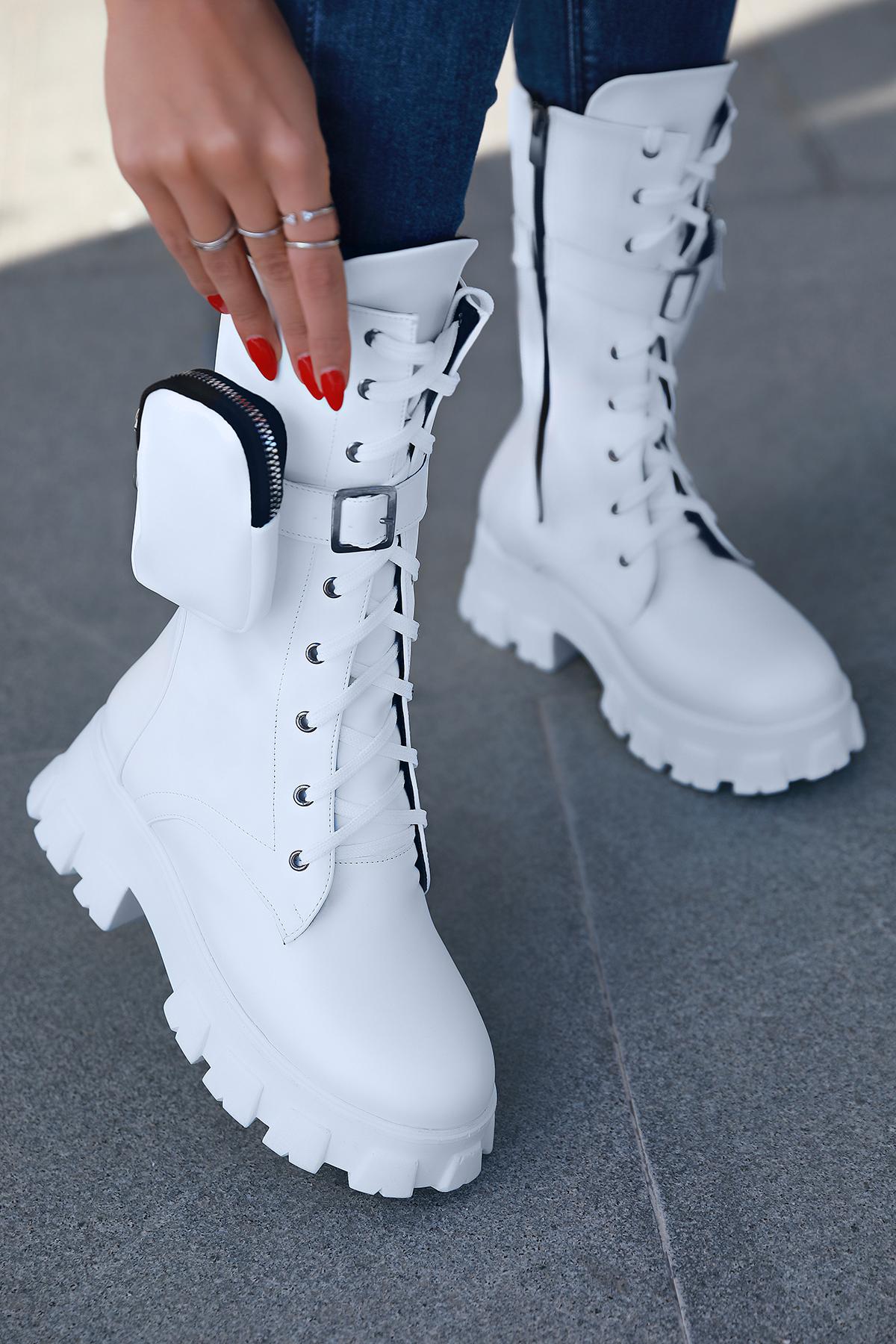 γυναικείες μπότες BARIDA WHITE – 1