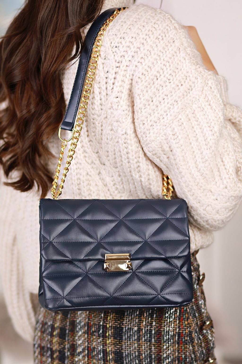 γυναικεία τσάντα TOBIKA NAVY - 1