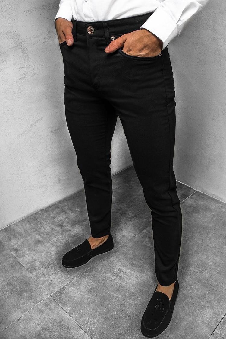 ανδρικό παντελόνι CARSON BLACK - 1
