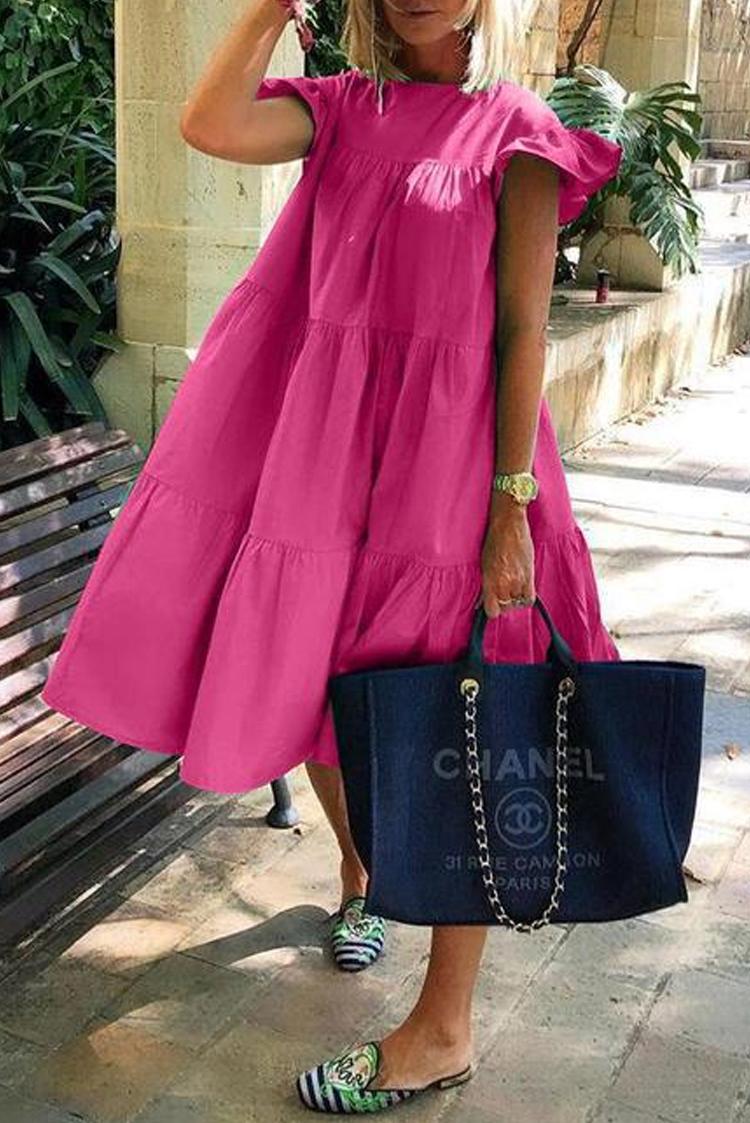 φόρεμα MERANDA FUCHSIA - 1