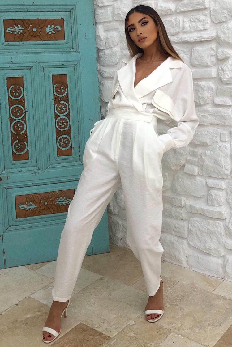 ολόσωμη φόρμα SELORDA WHITE - 1