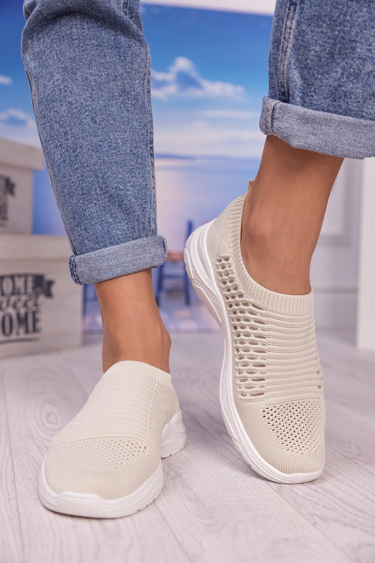 αθλητικά παπούτσια BERFALA BEIGE – 1