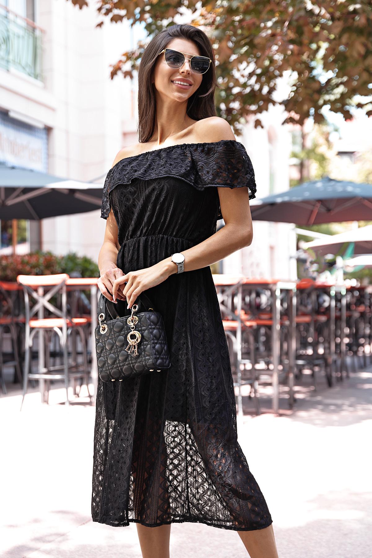 φόρεμα MATEKA BLACK - 1